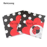 beetle seats - RainLoong Beverage Cartoon Paper Napkins Beetle Festive Printed Serviettes Tissues Decoupage Table Decoration cm