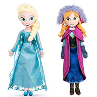 Wholesale Frozen princess Elsa Anna Toy doll Frozen Dolls cm inch Action Figures Plush Toy for christmas gift