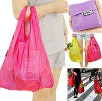 Wholesale Shopping bag New Candy color Japan Baggu Reusable Eco Friendly Shopping Tote Bag pouch Environment Safe Go Green