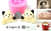 Wholesale Cute cat cake mold cotton candy molds cake decoration molds chocolate molds silicone soap mold DIY bakeware kitchen tools