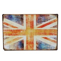 Wholesale UK Flag Tin Sign Vintage Metal Plaque Bar Pub Wall Decor Chritmas Gift