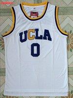 Wholesale SexeMara Russell Westbrook Jersey UCLA High School Jersey Stitched All Sewn White S XXL