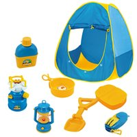 baby picnic set - Play house toys Summer Indoor outdoor camping House tent set flashing stove child park picnic holiday game play tent baby toy