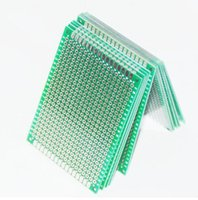 Wholesale 5x7 cm Prototype PCB Board Protoboard Tinned Universal Breadboard Prototyping Solderless FR4 PCB Double Sided x70mm FR4