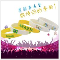 Wholesale Brazil Rio Olympic Bracelet White Silicone Wristband Decoration Links Fashion Xmas Gifts Charms Bangles