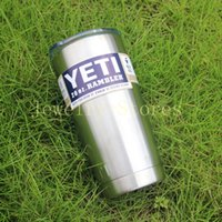 Wholesale Yeti Coolers Stainless Steel Mugs oz Tumbler With Logo Can Fits Comfortably In Your Car Boat Or Truck