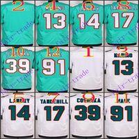 blank football jerseys - NIK Elite Football Stitched Dolphins Blank Dan Marino Jarvis Landry Tannehill Cosonka Wake White Green Jerseys Mix Order