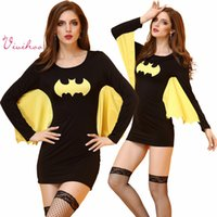 batman cape adult - Adult Batman Cosplay Charater Superhero Superwoman Tight Dress with Cape Sexy Ladies Halloween Fancy Party Costumes Role Play Game Outfits