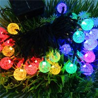 Wholesale Outdoor IP65 Waterproof Christmas Solar LED Bubble String Lights for Christmas Decoration LED White Blue Pink Red meters long