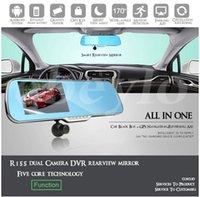 "Cheap Car dvr 5"" Android 4.0 Car Rear view Mirror Navi GPS + 1080P DVR + Wifi + Backup Camera free shipping hot sell"