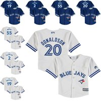 baby blue jays - 2015 New Preschool Toddler Jerseys Toronto Blue Jays Baby Jersey Josh Donaldson Jose Bautista Russell Martin Shirts s l