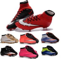 Wholesale Cheap Children Football Boots Kids Boys mens Superfly FG High Ankle Soccer Shoes Womens Girls Mercurial Superfly Soccer Cleats