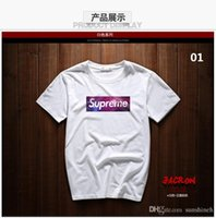 Wholesale Fashion Summer suprem t shirt letters popular logo printing short sleeve T shirt men s and women s summer wear sweethearts outfit cultivat