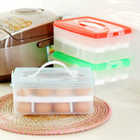 best portable refrigerator - Plastic Box Creative Double Egg Boxes Portable Plastic Crisper Refrigerators Big Store Content Box And The Best Factory Price