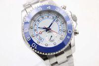 De Lujo De Marca Azul De Los Hombres De Cerámica De Zafiro Limited Deportes De Cristal 116688 Blanco De Movimiento Automático De Los Hombres De Reloj Deporte Deportivo