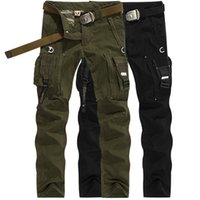 Wholesale Army fans outdoor survival pants casual men s Straight trousers climbing overalls pants Hunting Hiking Multi pocket trousers