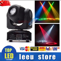 Wholesale LED colors W W spots Light DMX Stage Spot Moving Channels Mini LED Moving Head follow lighting for DJ Effect lights Dance Disco