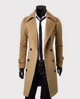 Wholesale mens double breasted trench coats men simple luxury men overcoat