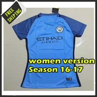 Wholesale Top quality Manchester citys women jersey new arrived camisetas maillots de foot embroidery logo