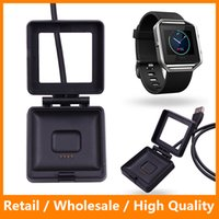 Wholesale High Quality USB Power Charger Cable Battery Charging Dock Cradles for Fitbit Blaze Smart Watch DHL Free