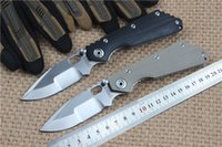 Wholesale Brand New Strider folding knife cr18 blade Outdoor camping knives G10 handle utility tactical survival knife EDC tool