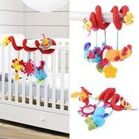 Wholesale Animal Sun Flower Bee Developmental Toy Handbells Bed Kids Baby Soft Toys Hot Selling