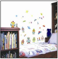 art ufo - Large Robot UFO Space Rocket Wall Sticker Decal Vinyl Art Home Decor Kids Room x CM