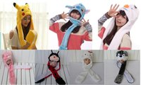 Wholesale Cartoon Animal Hat Cute Pikachu Hat Plush Winter Warm Earmuff Party Cap Hat Long Earflap Hats