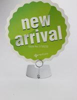 Wholesale Height cm gold silvery black store POP metal poster sign price tag card clip label holder stand