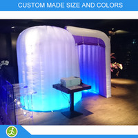 Wholesale Inflatable custom made led light round photo booth