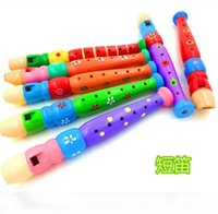 big rattle - Colorful Wooden Clarinet Baby Child Musical Instrument Rattle Party Toy Random Delivery