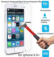 Wholesale For iPhone5sPlus s Screen Protector Tempered Glass Film Explosion Proof Samsung GalaxyS4 S5 Note4 premium