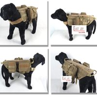 Wholesale Tactical Dog Vests Harness Molle Military Dog Clothes back Bearing Harness Tactical Dogs Training vest