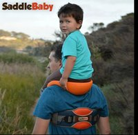 Wholesale Kids Shoulder Carrier Saddle Baby Shoulder Carrier Original Baby Carrier for Dad Hands free Ankle Straps Seat Baby Rider KKA248
