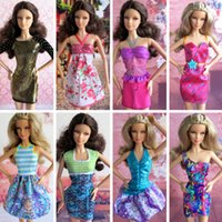 Wholesale 2016 Doll Accessories Clothes Outfits for Barbie Doll Mixed style Doll Clothing Dress