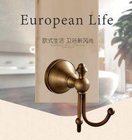 antique brass coat hooks - Bathroom Accessories European black Antique Bronze Robe Hook Clothes Hook Coat Hook Bathroom Products