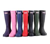 Wholesale Ms Hot Sale glossy Rain Boots Waterproof Women Wellies Boots Woman Rain Boots High Boot Rainboots