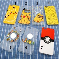 Wholesale Poke Go iPhone Cases Pikachu Bumpers iPhone S plus quot quot Cartoon Cases for Phone