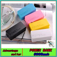 Wholesale Portable Power Bank mAh USB Charger Battery for Mobile iphone6 s Samsung S6 Android cellphone ipad Safety chargers
