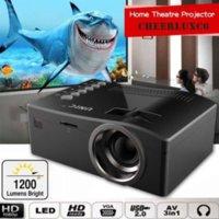 Wholesale Full HD P Home Theater LED Multimedia Projector Cinema TV HDMI Black EU home projector hdmi projector SNS