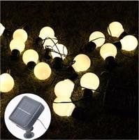 balls garden decor - 20 LED Outdoor Solar Lamps LED Globe ball String fairy light solar light christmas garland waterproof garden street decor Light