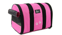 Wholesale 2016 Comfort Carrier Soft Sided Pet Travel Carrier Petmate Kennel Cat Dog Carrier S L Red colors for small dog PA03 love