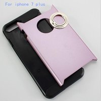 armor types - For iphone plus Hybrid cover Bracket Type Mobile armor two in one Case Separable Hidden Ring Buckle Shell For iphone plus
