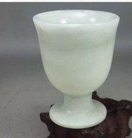 achat en gros de prix des boissons alcoolisées en gros-verre de jade Real [Une contribution au niveau de jade naturel grand verre - kai yu haute liqueur tasse] le prix de gros