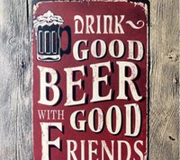 beer package design - 2016 Wall Stickers Drink Good Beer With Friends Posters Decorative Sheet Painting Crafts And Gifts
