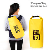 beach kayak - Waterproof Bag Storage Dry Bag for Canoe Kayak Rafting Sports PVC Tarpaulin Waterproof Bags Outdoor Camping Beach Rafting Applicable