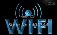 access advertising - LB572 TM Wi Fi Internet Access Cafe Shop Neon Light Sign Advertising led panel