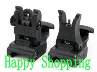 Scope Mounts & Accessories arms folding front sight - New A R M S L ARMS Polymer Front And Rear Flip up Folding Sight Black