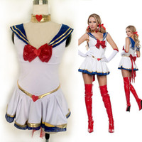 Cheap Sexy Costumes anime sailor moon cosplay costume uniform fancy dress up sailormoon outfit cartoon character costumes top fashion cosplay cost