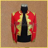abc perform - Bar Performing Arts Men Sequin star Blazers ABC stage costumes night games singer clothing stage Nightclub costumes suit dress